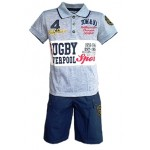 Komplektas: Polo marškinėliai ir šortai nuo 86cm iki 126cm (Prancūzija)