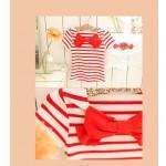 Sijonas su tamprėm ir marškinėliai su kaspinu, raudonos spalvos nuo 100cm iki 140cm (Kinija)